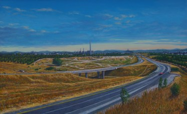 California - Oil/canvas - 30 x 60 inches