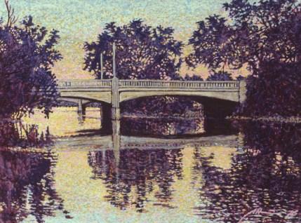 Highland Avenue Bridge - Acrylic/paper - 8 x 10 inches