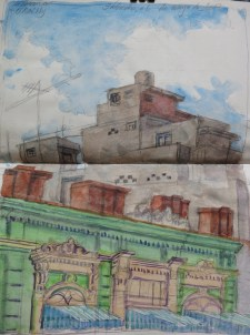 Havana, Calle O'Reilly - Watercolor - 7 x 14 inches