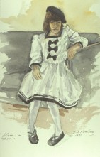 Karen - Watercolor - 9 x 12 inches