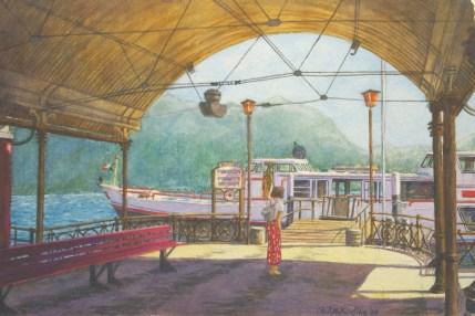 La Partenza - Watercolor - 10 x 15 inches