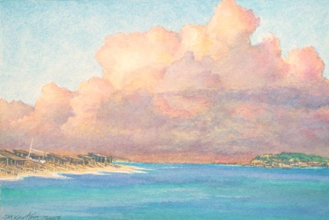 Las Nubes - Watercolor - 7 x 11 inches