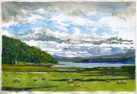 Loch Fyne - Watercolor - 7 x 10 inches