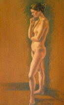Mondy 1 - Oil/canvas - 13 x 21 inches