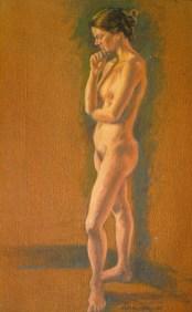 Mondy 1 - Oil/canvas - 13 x 21 inches