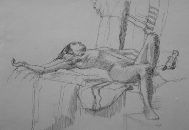 Julie - Pencil/paper - 17 x 23 inches