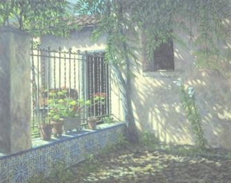 Garden in Paterna - Oil/canvas - 24 x 32 inches