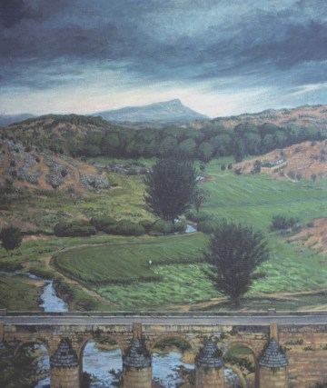 Road to Soria - Oil/canvas - 32 x 40 inches