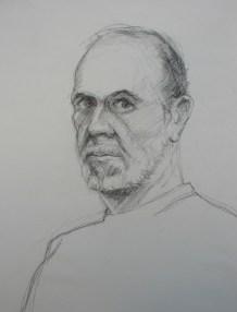 Self Portrait - Pencil/paper - 7 x 10 inches