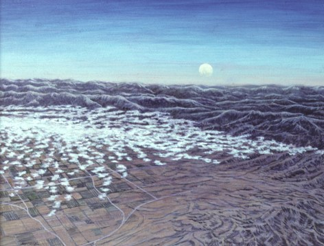 Sierra Moon - Acrylic/masonite - 11 x 15 inches