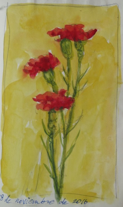 Carnations - Watercolor - 5 x 7 inches