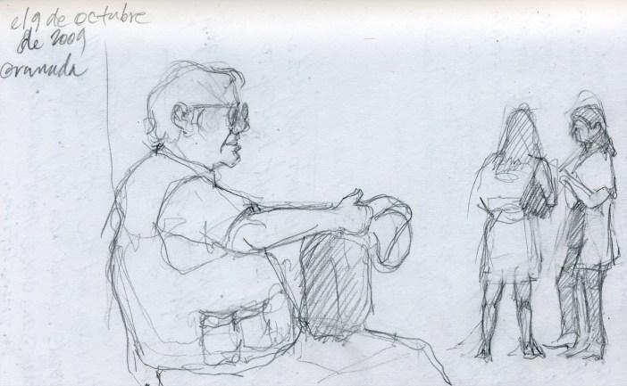 Tourist, Granada - Pencil/paper - 5 x 7 inches