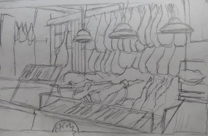 Jamones - Pencil/paper - 7 x 10 inches