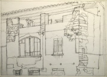 Ponte Tresa Sketch 2 - Pencil/paper - 7 x 10 inches
