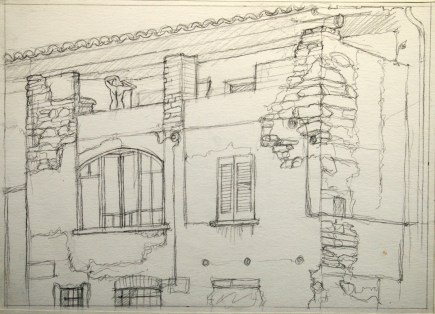 Ponte Tresa Sketch 2 - Pencil/paper - 7 x 10 inches