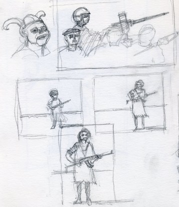 War Sketch 2 - Pencil/paper - 5 x 7 inches