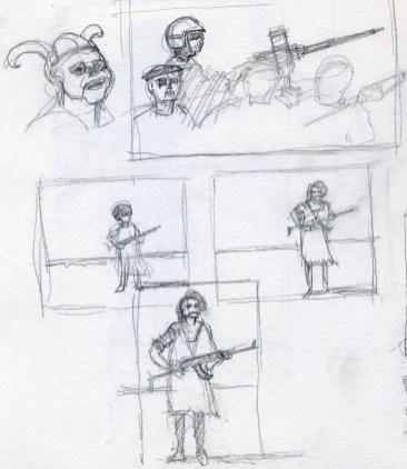 War Sketch 2 - Pencil/paper - 5 x 7 inches