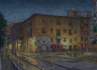 The House of Bernarda Lorca - Watercolor - 20 x 28 inches