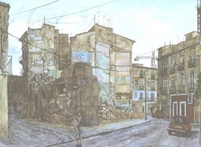 Esquina Valencia - Watercolor - 11 x 14 inches