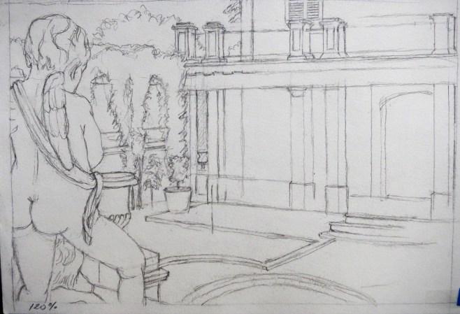 Monforte 1 - Pencil/paper - 7 x 10 inches