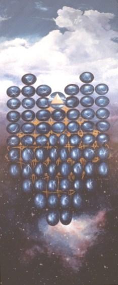 Benedict's Dominoes - Acrylic/canvas - 56 x 120 inches
