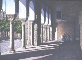 La Mezquita, Córdoba - Watercolor - 21 x 29 inches