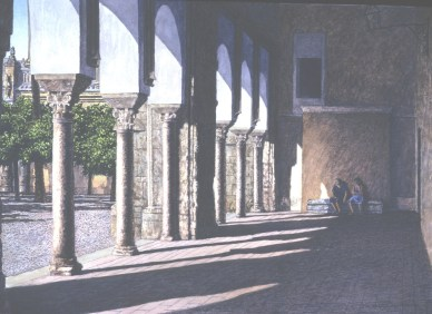La Mezquita, Córdoba - Watercolor - 21 x 29 inches