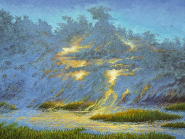 Lightstorm - Acrylic/canvas - 28 x 36 inches
