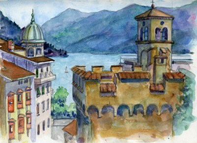 Lugano Study - Watercolor - 7 x 10 inches