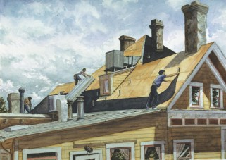 New Roof - Watercolor - 21 x 29 inches