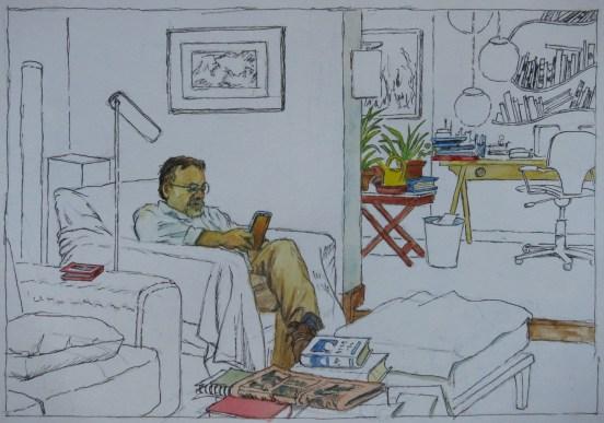 Paco Julian Portoles - Watercolor - 7 x 10 inches