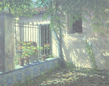 Garden in Paterna - Oil/canvas - 24 x 32 inches