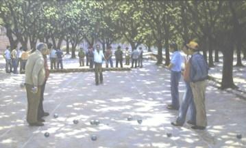 Petanque - Oil/canvas - 20 x 32 inches