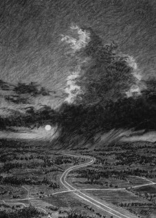Storm Study - Charcoal/paper - 18 x 24 inches