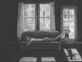 The Threshold Study - Charcoal/paper - 18 x 24 inches