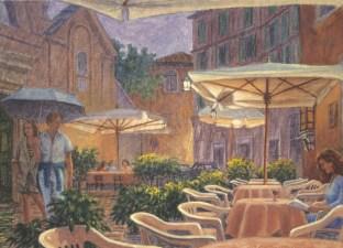 Trastevere - Oil/paper 10 x 14 inches
