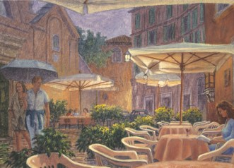 Trastevere - Oil/paper 10 x 14 inches