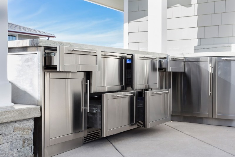 Absorbing Stainless Steel Cabinetry John Michael Outdoor Kitchens