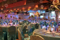 ballroom transformed into undersea adventure