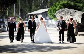 Wedding photography in Old Port of Echuca