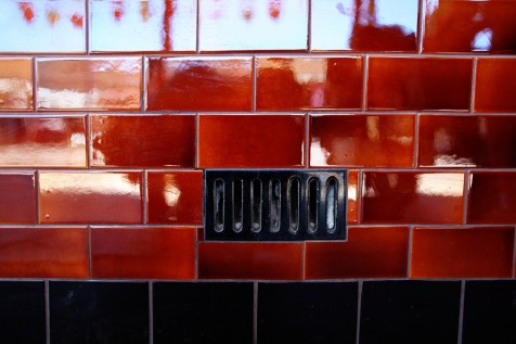 Glossy red tiles