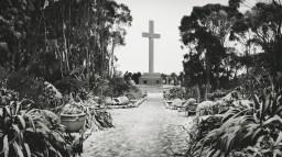 Mount Macedon Memorial Cross in Snow