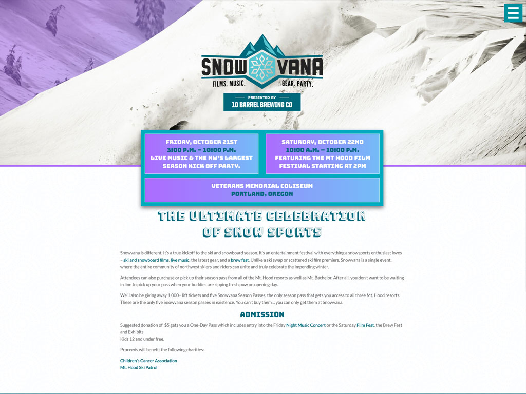 Snowvana.com Website Design & Development