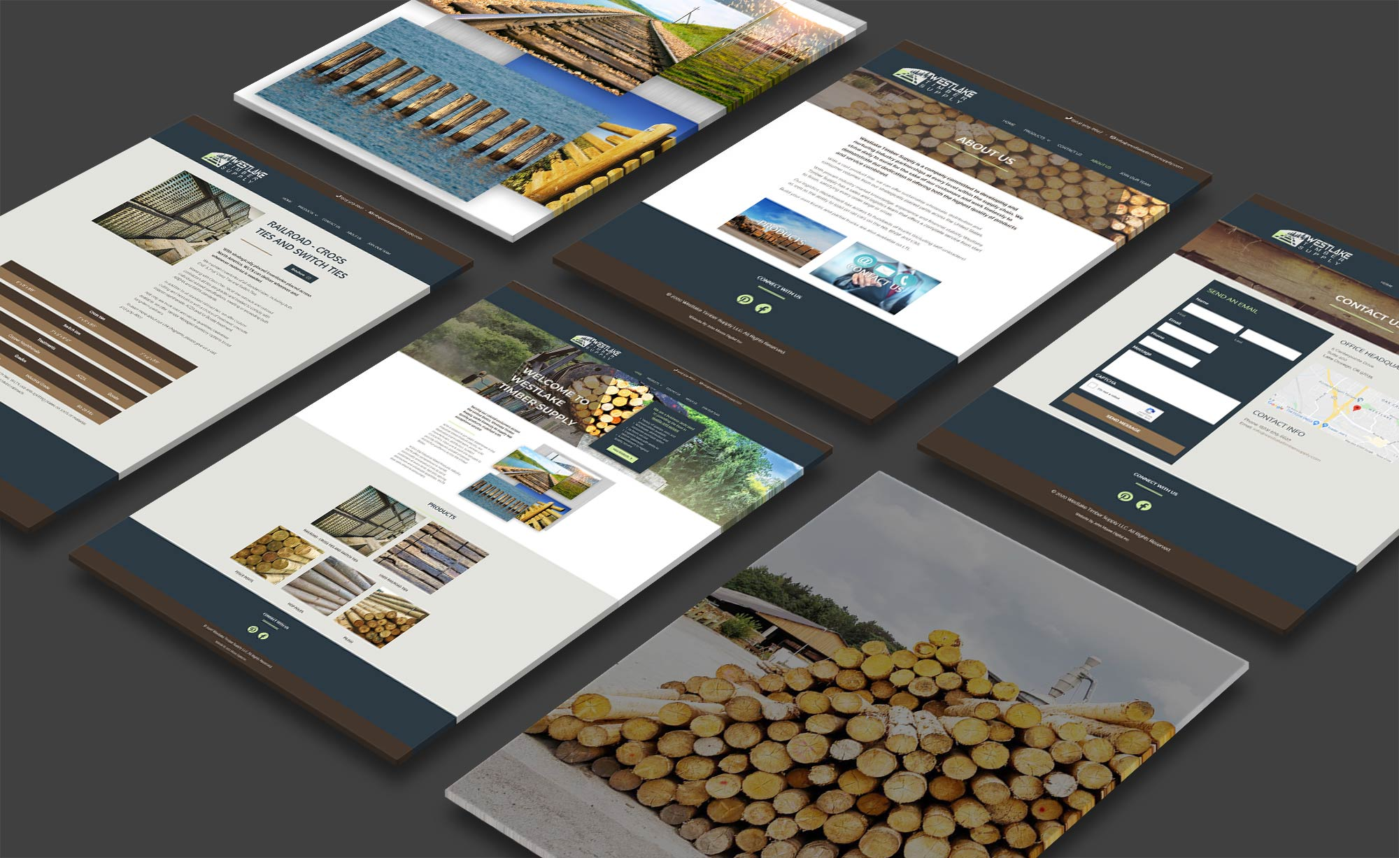 Westlake Timber Supply Web Page Mockup