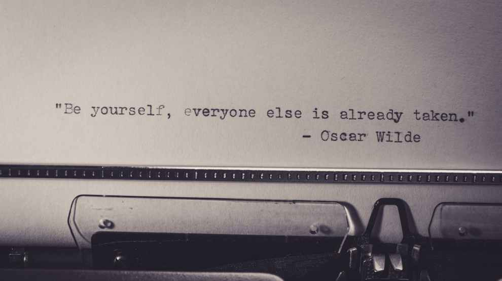 white paper with be yourself everyone else is already taken print