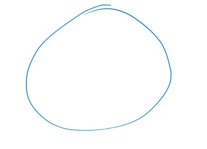 Start with a circle. The long ovular body is compressed to this shortened shape.