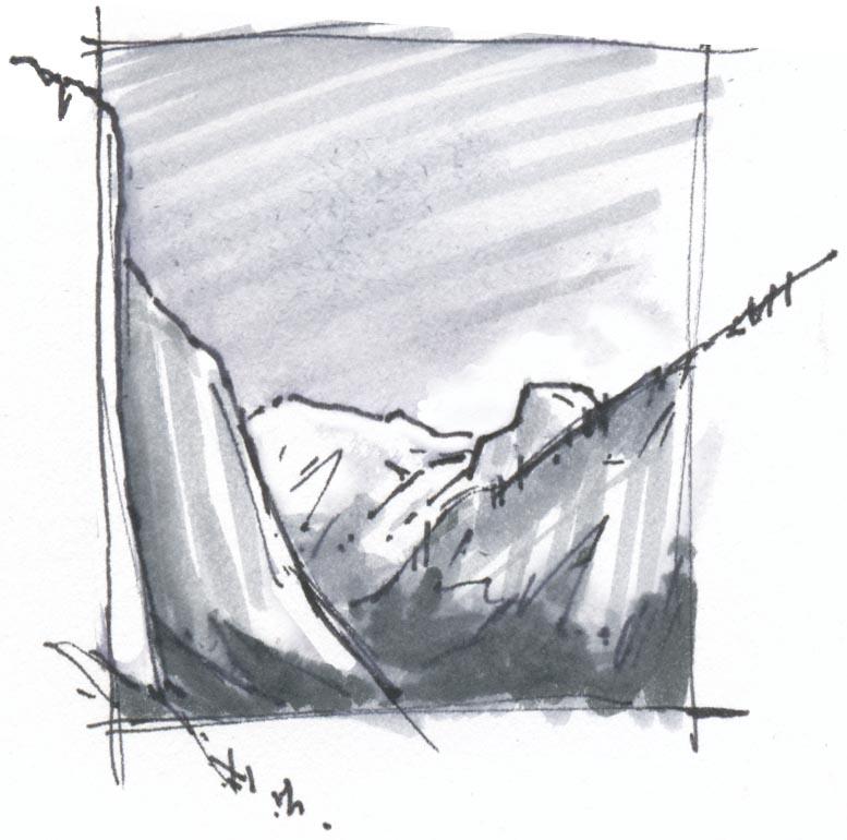 5 Minute Landscape: Water Soluble Pen