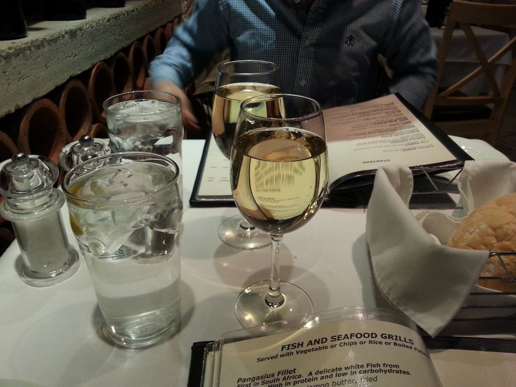 Not only is wine poured to the brim when you order a glass at a restaurant, this amazing white wine ran poured to the top ran me about 4$!