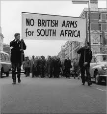 Many countries around world rallied against Apartheid like this picture from the UK.