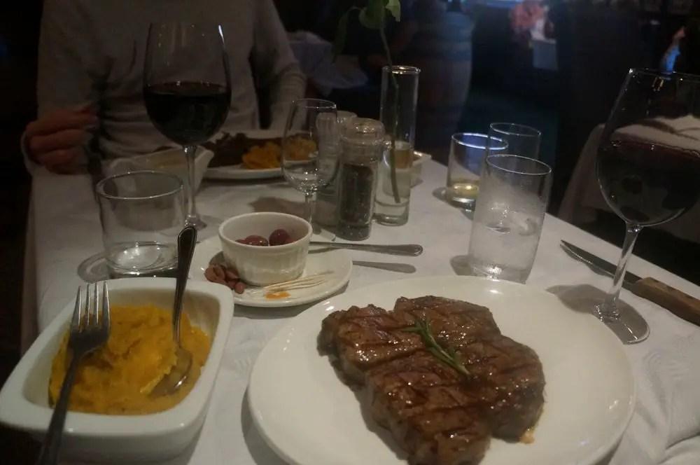 Half KG steak at Hussar Grill.